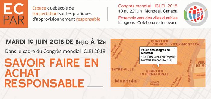 ECPAR « Savoir faire en achat responsable » - ICLEI 2018