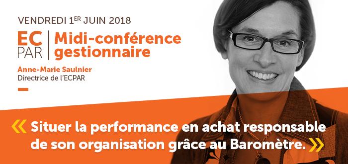 ECPAR Midi-conférence gestionnaire du 1 juin 2018